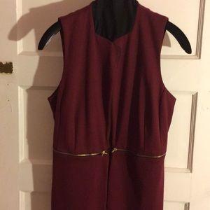 NWT green envelope burgundy vest